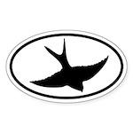 Flying Swift Oval Oval Sticker