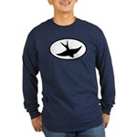 Flying Swift Oval Long Sleeve Dark T-Shirt
