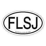 FLSJ Florida Scrub-Jay Alpha Code Oval Sticker