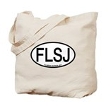 FLSJ Florida Scrub-Jay Alpha Code Tote Bag
