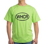 WHCR Whooping Crane Alpha Code Green T-Shirt