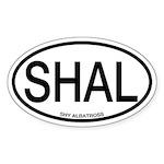 SHAL Shy Albatross Alpha Code Oval Sticker