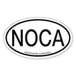 NOCA Northern Cardinal Alpha Code Oval Sticker
