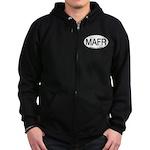 MAFR Magnificent Frigatebird Alpha Code Zip Hoodie