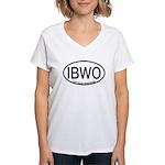 IBWO Ivory-billed Woodpecker Alpha Code Women's V-