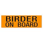 Birder On Board Sticker (Bumper)