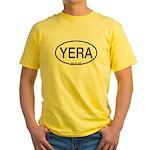 YERA Yellow Rail Alpha Code Yellow T-Shirt