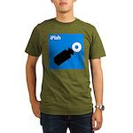 iPish (blue) Organic Men's T-Shirt (dark)