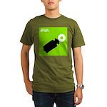 iPish (green) Organic Men's T-Shirt (dark)