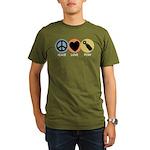 Peace Love Pish Organic Men's T-Shirt (dark)
