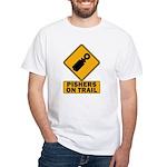 Pishers on Trail White T-Shirt