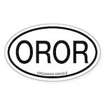 OROR Orchard Oriole Alpha Code Sticker (Oval)
