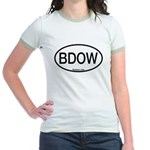 BDOW Barred Owl Alpha Code Jr. Ringer T-Shirt
