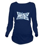 Birds Well With Others Long Sleeve Maternity T-Shi