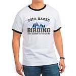 Coed Naked Birding Ringer T